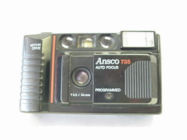 Ansco 735 Programed Auto Focus 35mm Camera with Built-in Flash - $34.64
