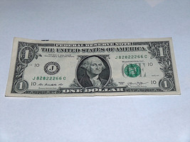 2013 $1 Dollar Bill US Bank Note Even #'s Pair 3 Of Kind 82822266 Fancy ... - $12.68