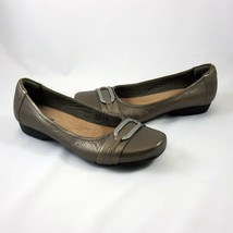 Clarks Collection Shoes Size 8M Metallic Bronze Leather Loafer Flats - $34.64