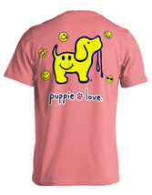 Puppie Love Rescue Dog Adult Unisex Short Sleeve Cotton Tee,Smiley Face Pup