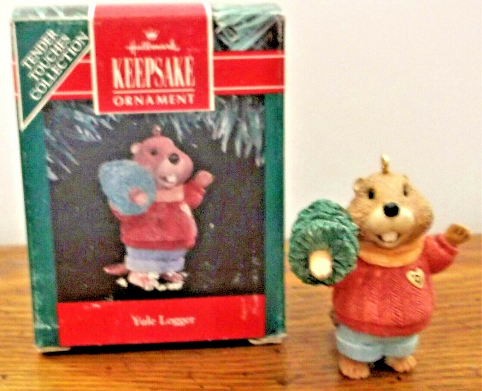 Primary image for Hallmark Keepsake Ornament 1991 Yule Logger Tender Touches Collection NIBox