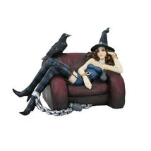 PTC Pacific Giftware Raven Bird with Witch Shackled to Sofa Statue Figur... - £27.42 GBP