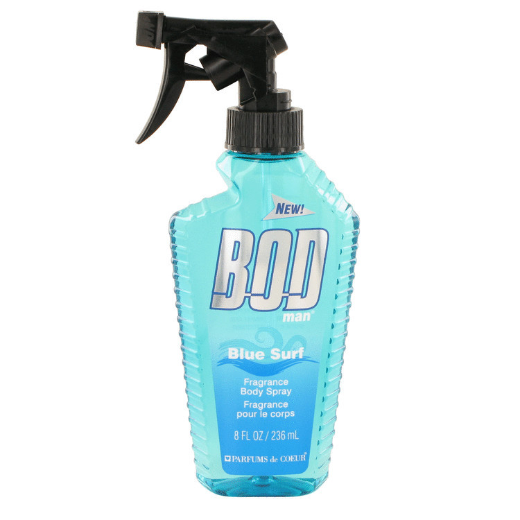 Primary image for Bod Man Blue Surf by Parfums De Coeur Body Spray 8 oz