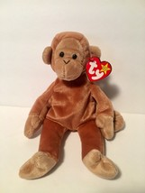 Ty Beanie Babies Plush Beanbag Bongo the Monkey Tan Brown - $7.78