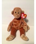 Ty Beanie Babies Plush Beanbag Bongo the Monkey Tan Brown - $7.78