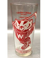 Wisconsin Badgers HOCKEY Drinking Glass ~ Vintage 1978-1979 Home Games S... - $12.94
