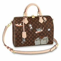 LOUIS VUITTON Catogram Bag Speedy 30 M44401 Grace Coddington Auth Mint Rare - $3,804.78
