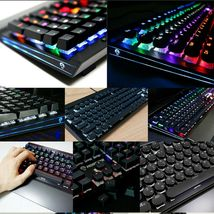 Monstar MK108 Korean English Gaming Keyboard Kailh LongHua Dual Key(Blue Switch) image 8