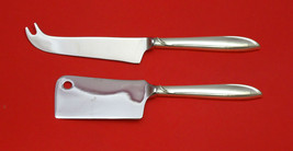 Silver Rhythm By International Sterling Silver Cheese Serving Set 2P Hhws Custom - $93.20