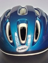 Bicycle Safety Helmet ProRider Blue White Size S M Childrens Helmet - $13.10