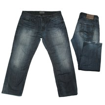 RIVET DE CRU Jeans 36 x 28 Mens ANDREW Relaxed Fit Straight Leg Dark Des... - $37.62