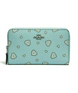 Coach medium zip around wallet WESTERN HEART PRINT ~NWT~ Blue 29739/ MSR... - $84.15