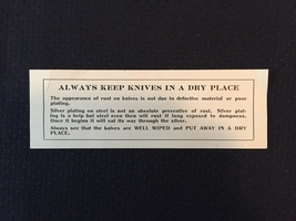 Vintage Reed & Barton Fish/Fruit Knife Set of 6 with original wrap and box image 4
