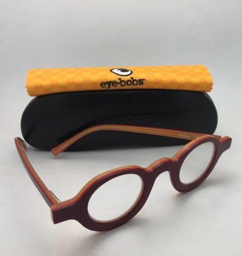 5e71bcbd7e4a Readers EYE•BOBS Eyeglasses LUNA SEE 2316 40 +2.25 Red on Yellow Frames