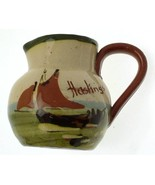 Vintage Longpark Art Ware Art Pottery Motto Ware milk jug ship pattern C... - $84.60