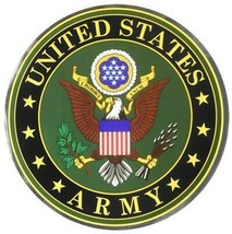 """United States Army Crest Large 12"""" Round Chrome Decal - $29.45"""