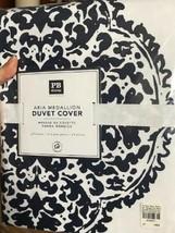 Pottery Barn Teen Aria Medallion Duvet Cover Navy Blue Queen 2 Standard ... - $139.00