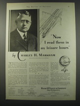 1930 Rand Mcnally & Company Ad - Now I read them in my leisure hours - $14.99