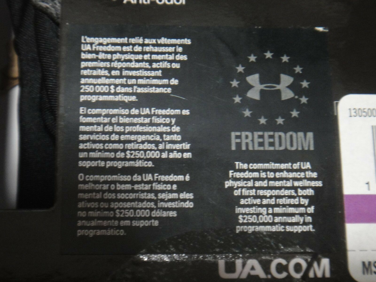 "Under Armour Mens Boxer Brief Freedom Original Boxerjock 6"" inseam Black XXL"
