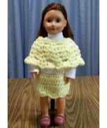 3 Piece American Girl Outfit, Handmade, Crochet, Poncho, Skirt, Scrunchy... - $22.00