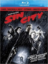 Sin City (2 Disc Theatrical & Recut Extended Unrated Versions) [Blu-ray] (2005)