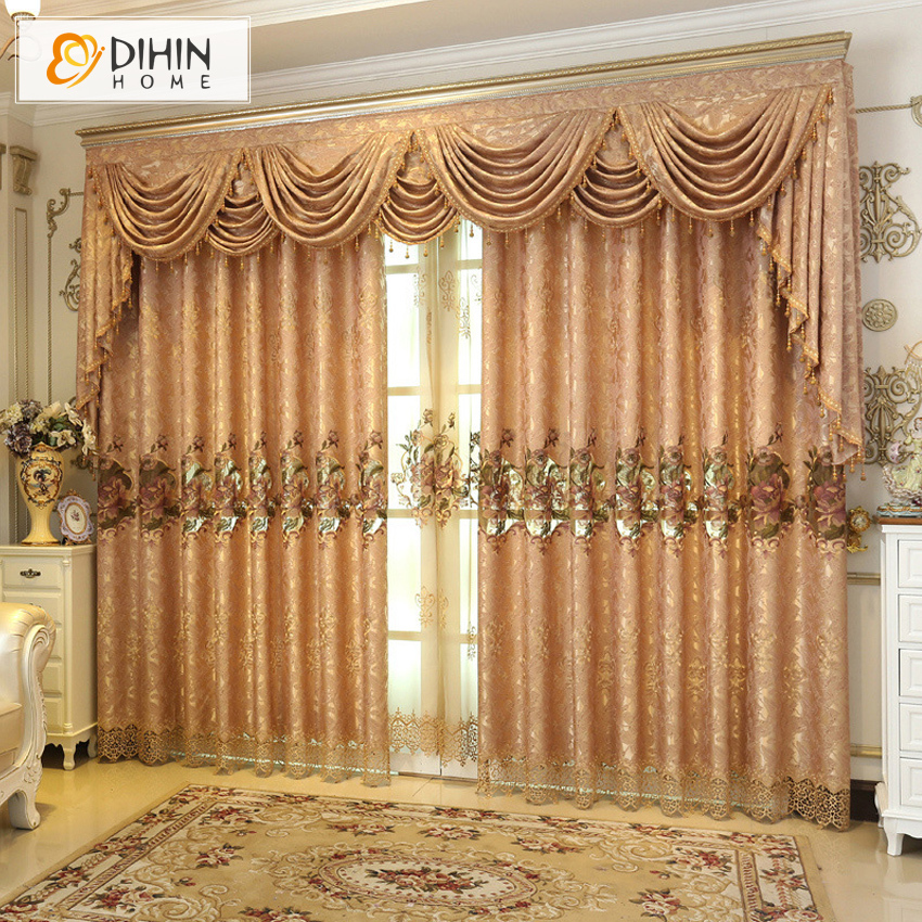 DIHIN-HOME-Luxury-European-Window-Curtains-For-Living-Room-High-Quality-Embroide