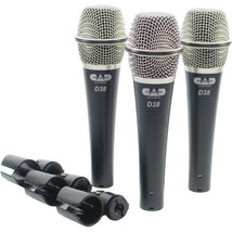 CAD - D38X3 - Supercardioid Dynamic Handheld Microphone - Pack of 3 - $68.31
