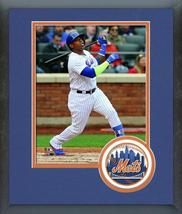 Yoenis Cespedes 2018 New York Mets Action - 11x14 Team Logo Matted/Framed Photo - $43.95