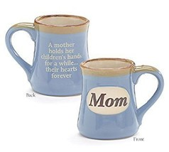 Mom Porcelain Blue Coffee Tea Mug Cup 18oz Gift Box Holds Childs Hands.H... - $20.70