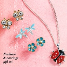 NIB SPRING CRITTERS NECKLACE & EARRINGS GIFT SET - $12.99