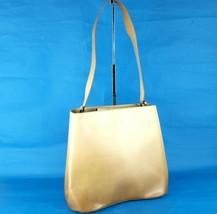 Auth Salvatore Ferragamo Beige Patent Leather Ladies Shoulder Bag Purse ... - $147.51