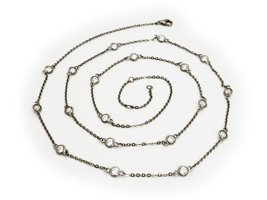 "Gunmetal CZ by the Yard Necklace, 40"" - $88.00"
