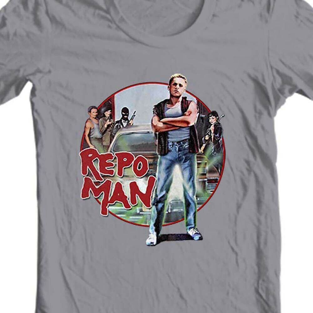 Repo Man T-shirt vintage 1980 retro classic movie 100% cotton graphic white tee