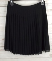Ann Taylor Loft  Chiffon Pleat Skirt Size 4 Black - $18.99