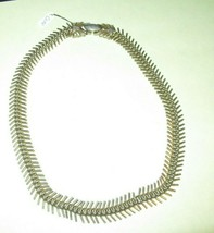 Vintage Signed CORO Choker Necklace-Millipede-Gold Tone - $9.95