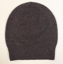 Polo Ralph Lauren Gray Wool & Cotton Blend Beanie Green Pony Adult One S... - $37.12