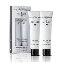 Scottish Fine Soaps Au Lait Body Essentials 2x100ml 2x3.5oz Tubes - $22.00