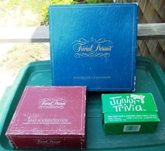 ~~ Lot of 3 Trivial Pursuit Games ~ Genus Edition 1981, Baby Boomer, & J... - $16.00
