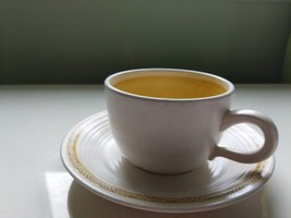 FRANCISCAN EARTHENWARE HACIENDA GOLD YELLOW CUP AND SAUCER (3 in total) - $2.97
