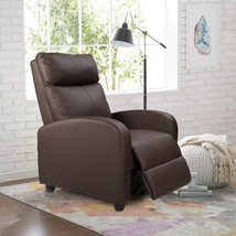 Modern Contemporary Leather Stressless Ottoman Lounger Recliner Back Bro... - $586.64