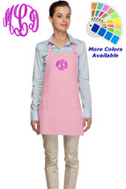 Monogrammed Apron for Mom Dad Kitchen Baker Cook Gift Personalized - $22.99