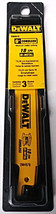 "Dewalt DW4878 6"" x 18 TPI Cordless Metal Cutting Reciprocating Blades 3 ... - $5.94"