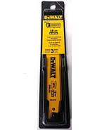 "Dewalt DW4878 6"" x 18 TPI Cordless Metal Cutting Reciprocating Blades 3 ... - $5.94"