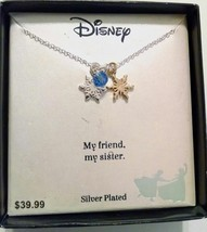 NWT $40 DISNEY Beaded Silver Plated Designer Necklace New - $21.24