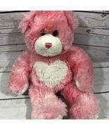 "Build A Bear Workshop16"" Pink Heart Magnetic Hands Cheeks Stuffed Plush  - $22.28"
