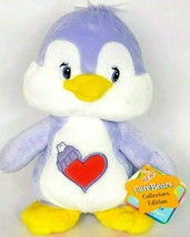 NWT Care Bear Cousins Cozy Heart Purple Penguin 2003 Plush Stuffed Anima... - $25.49