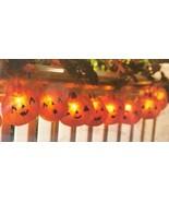 Instant HALLOWEEN Decor LIGHTED JACKS BANNER 6' Length, 10 LED Bulbs, Ba... - $17.71