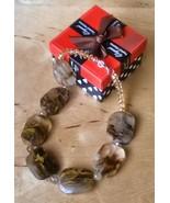 HUGE Tiger Skin Crystal Necklace - New - $22.00