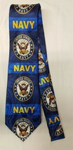 US Navy Neck Tie United States Sailor Seal Blue Military Patriotic NEW - $6.99