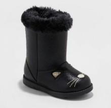 Toddler Girls Etha Ankle Fashion Boots - Cat & Jack Black New w/ Tag Siz... - $529,43 MXN